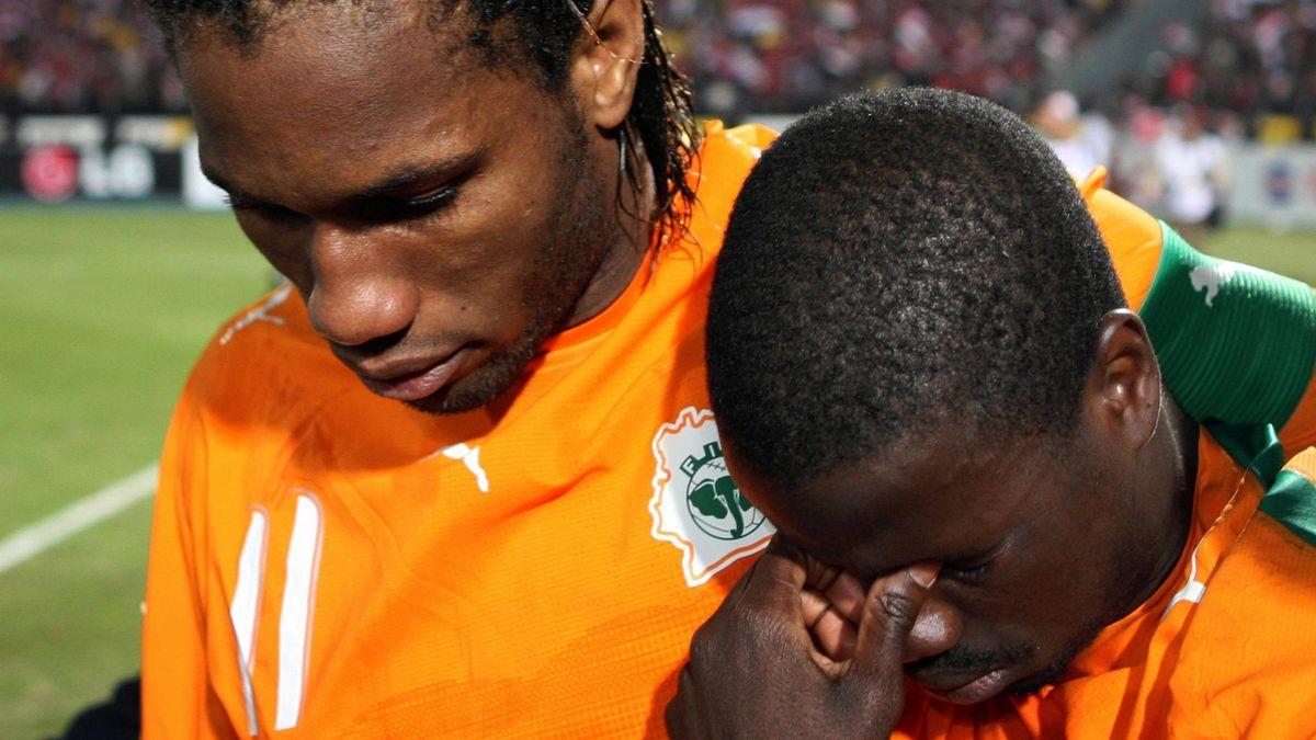 FOOTBALL 2006 Egypt 2006 Ivory Coast Egypt-Ivory Coast Drogba Eboué