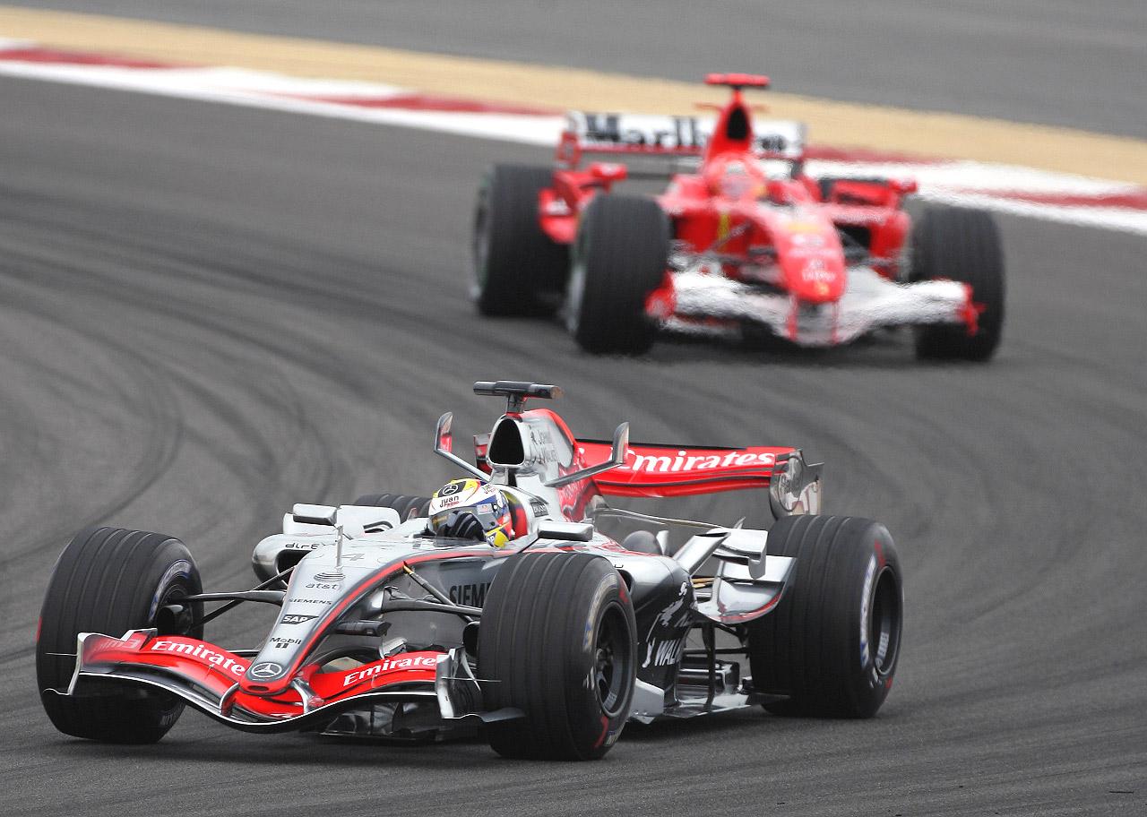 Juan Pablo Montoya & Michael Schumacher