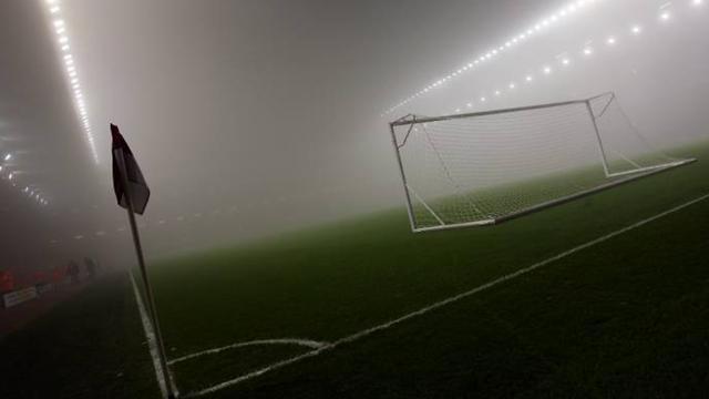 Kore'de lig maçlarına hava kirliliği engeli