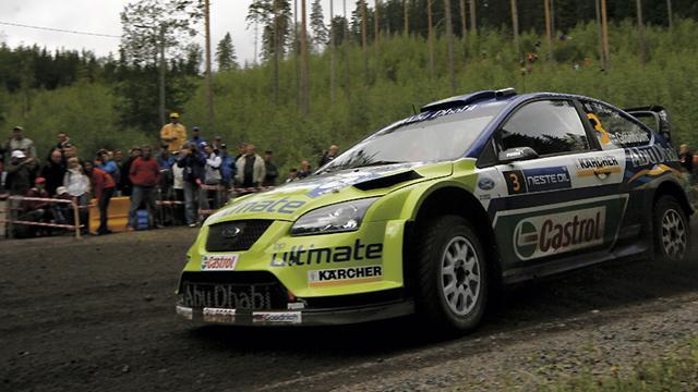 Sur la route du Rallye de Finlande