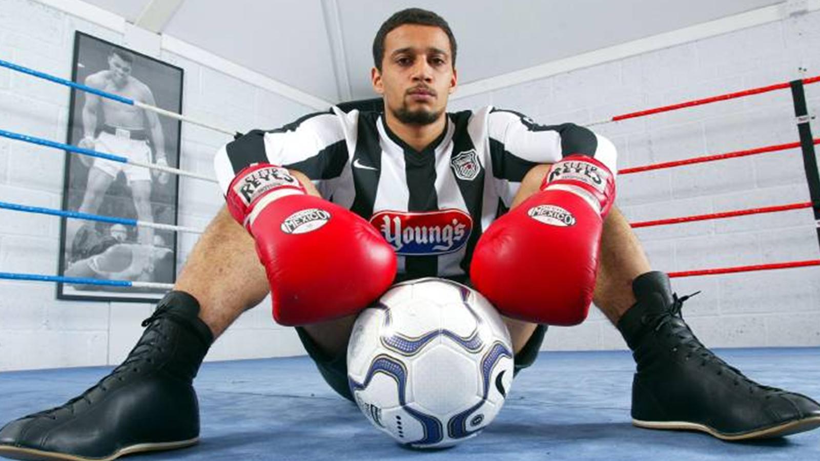 ex-footballer wins belt - boxing