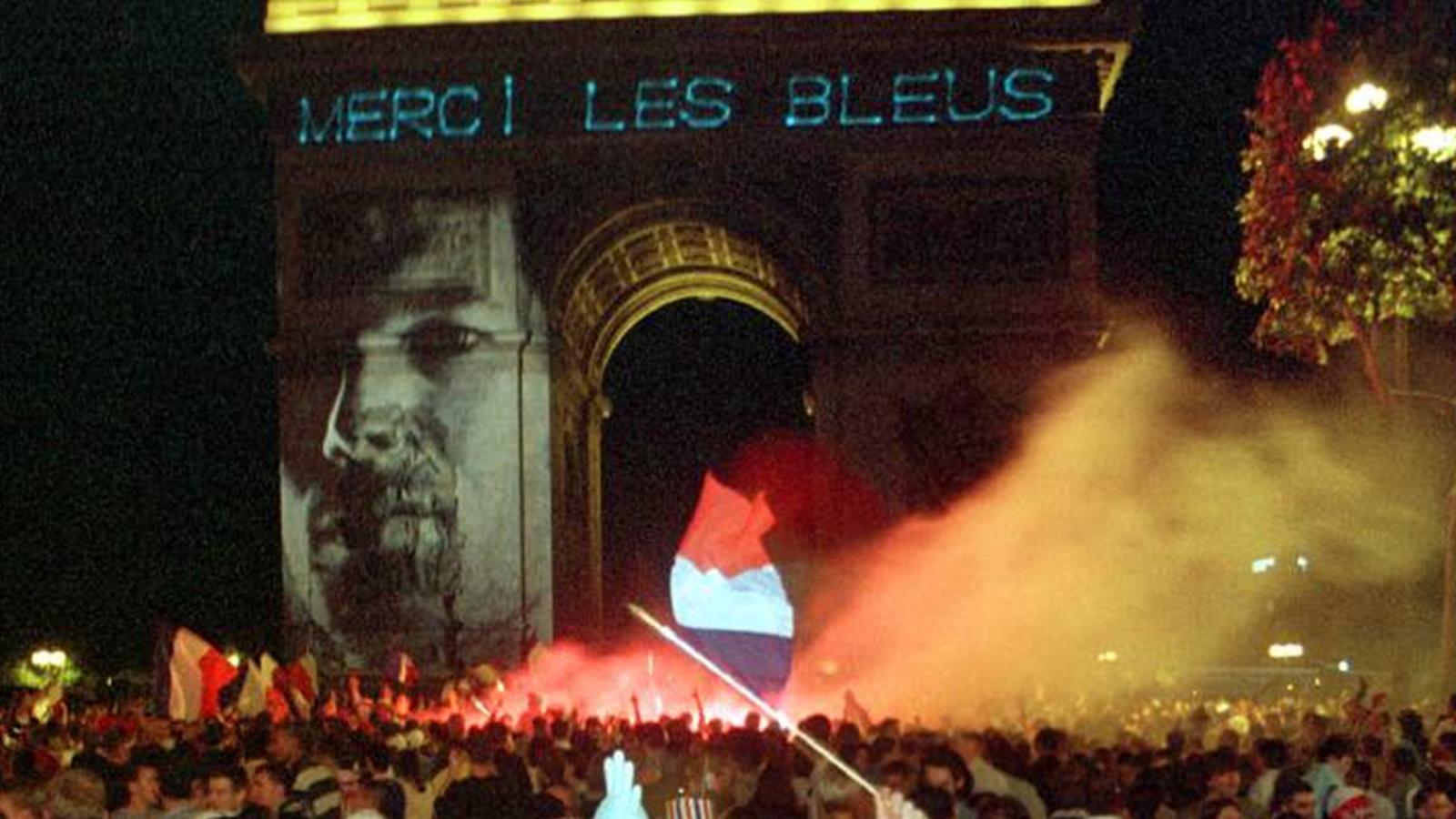 La france black blanc beur france 98 1998 football eurosport - Victoire de la coupe du monde 1998 ...