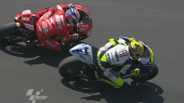 Rossi v Stoner at Laguna Seca