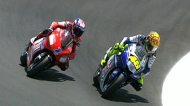 Rossi wins US thriller