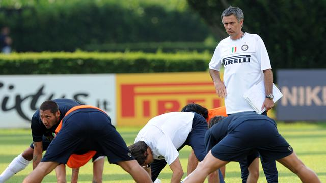 L'Inter di Mourinho al lavoro di domenica