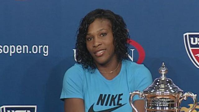 Serena Williams heureuse
