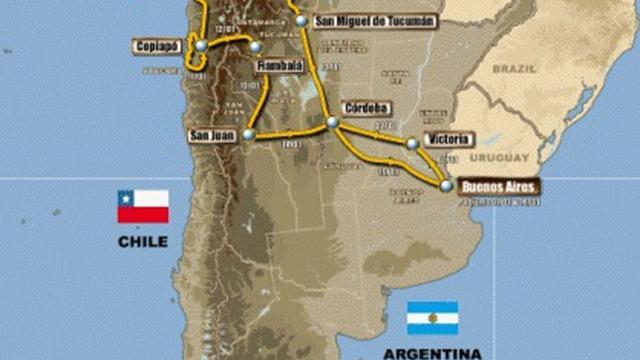 2012 Dakar Rally route revealed