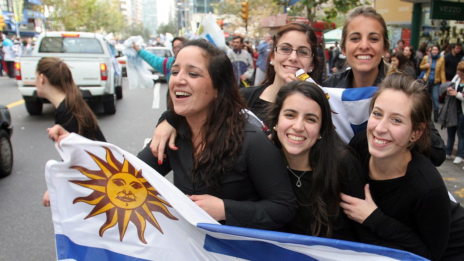 Jubilant Uruguayans party - Copa América 2011