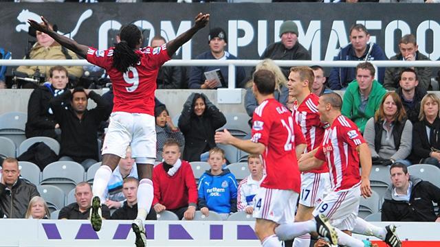 Stoke win at Newcastle