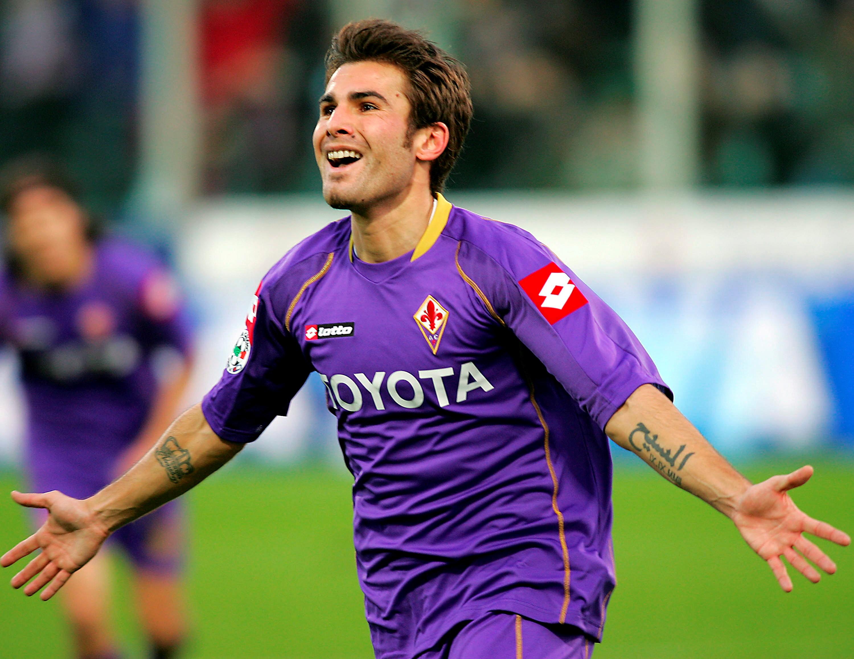 Adrian Mutu, in tricoul Fiorentinei