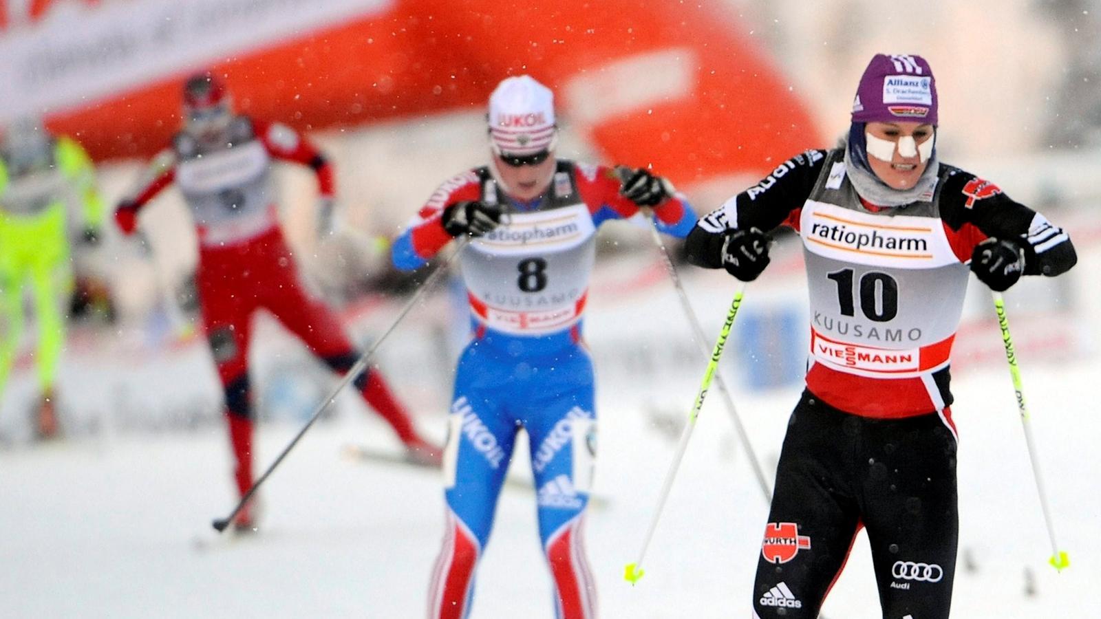 Tchekaleva wins first World Cup event in Rybinsk skiathlon - Eurosport