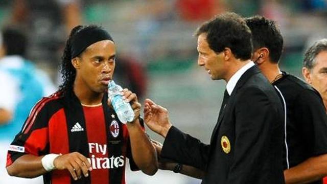 Ronaldinho unhappy with Allegri conduct