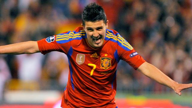 Villa breaks Raul record as Spain avoid upset