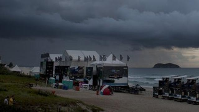 Storm forces lay-day in Brazil