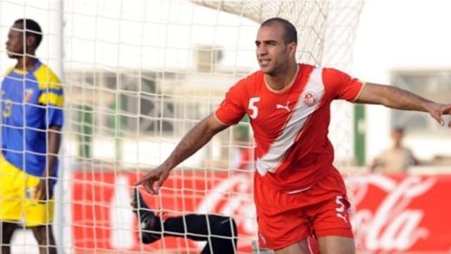 أيمن عبد النور لاعب منتخب تونس ضد تشاد