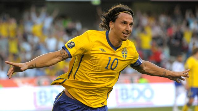 Ibrahimovic treble in Sweden rout