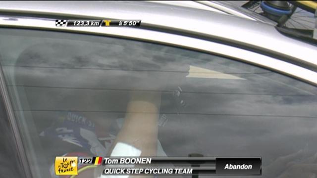 Boonen quitte le Tour
