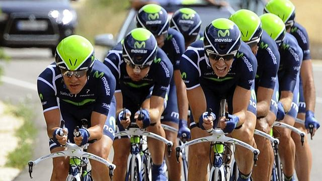 Castroviejo in red after Movistar take TTT