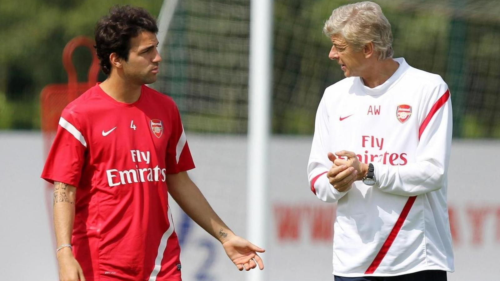 Arsene Wenger gave Fabregas his professional debut when the Spaniard was just 16