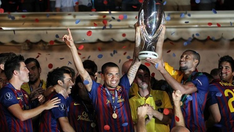 Футбол. суперкубок уефа. барселона испания порту онлайн
