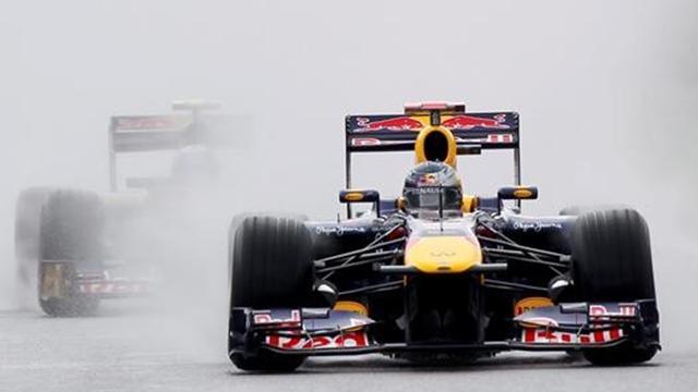 Son tur Vettel'e yaradı