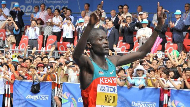 Kirui wins men's marathon world title
