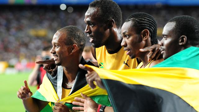 Jamaica post relay record as USA fall
