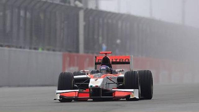 Leimer takes GP2 pole at wet Silverstone