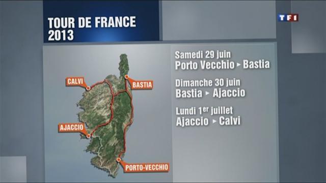 Trois étapes en Corse en 2013