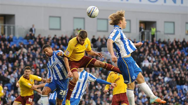 Nine-man Brighton lose to Burnley