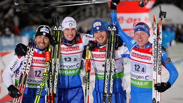 Italy end long wait for biathlon relay