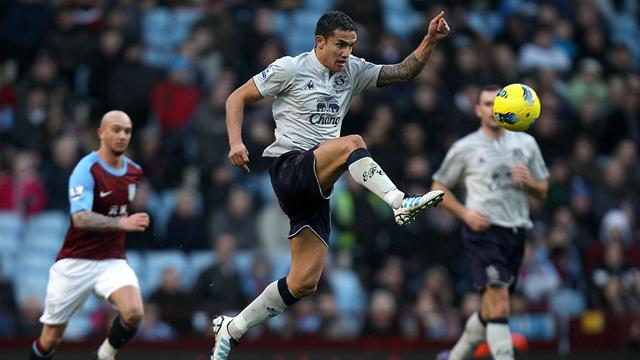 Everton make point at Aston Villa