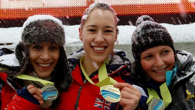 Yarnold heads British one-two in St Moritz