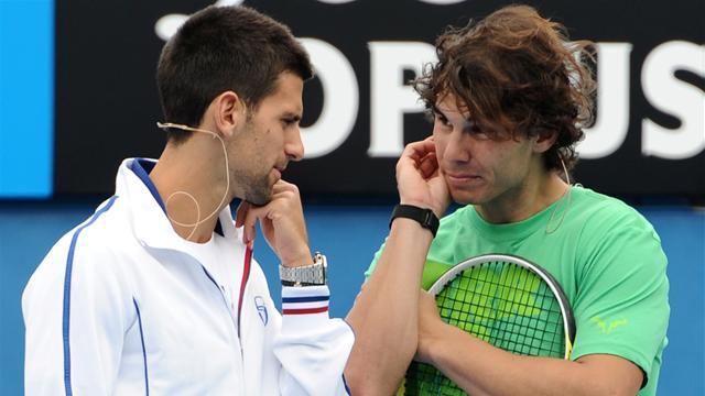 Nadal and Djokovic fire shots ahead of final