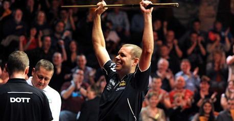 Snooker-Hawkins wins Championship League Group 5