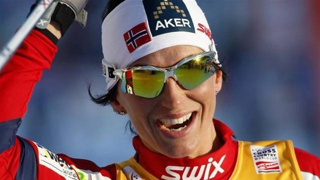 Bjoergen wins Falun sprint