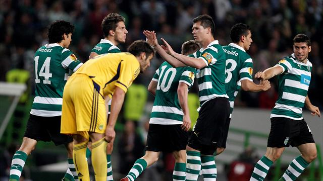 Metalist 1-1 Sporting Lisbon  (Sporting win 3-2 on aggregate)