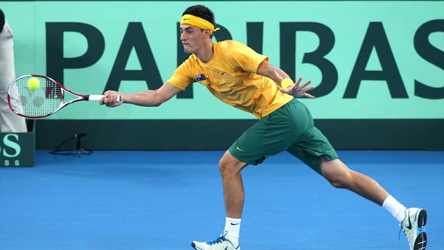 Tomic stretched in Davis Cup win