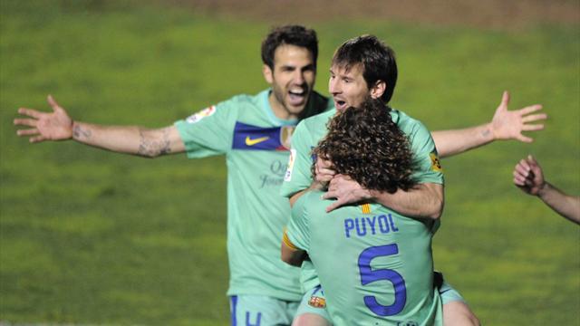 Messi délivre le Barça