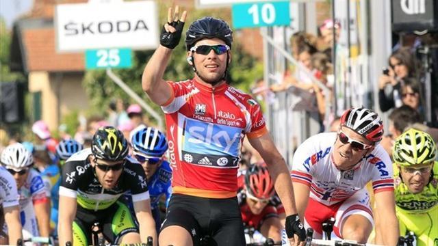 Cavendish secures Giro hat-trick