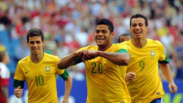 Hulk leads Brazil past Denmark
