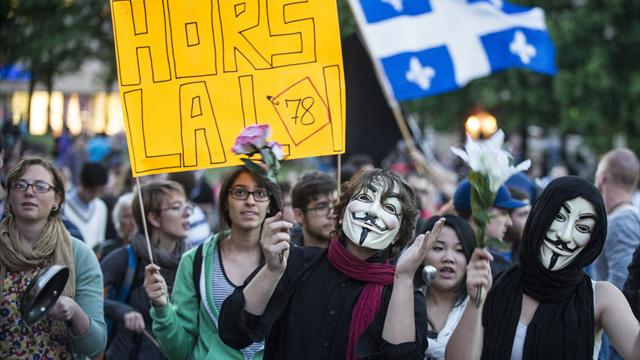 Kanada'da protesto
