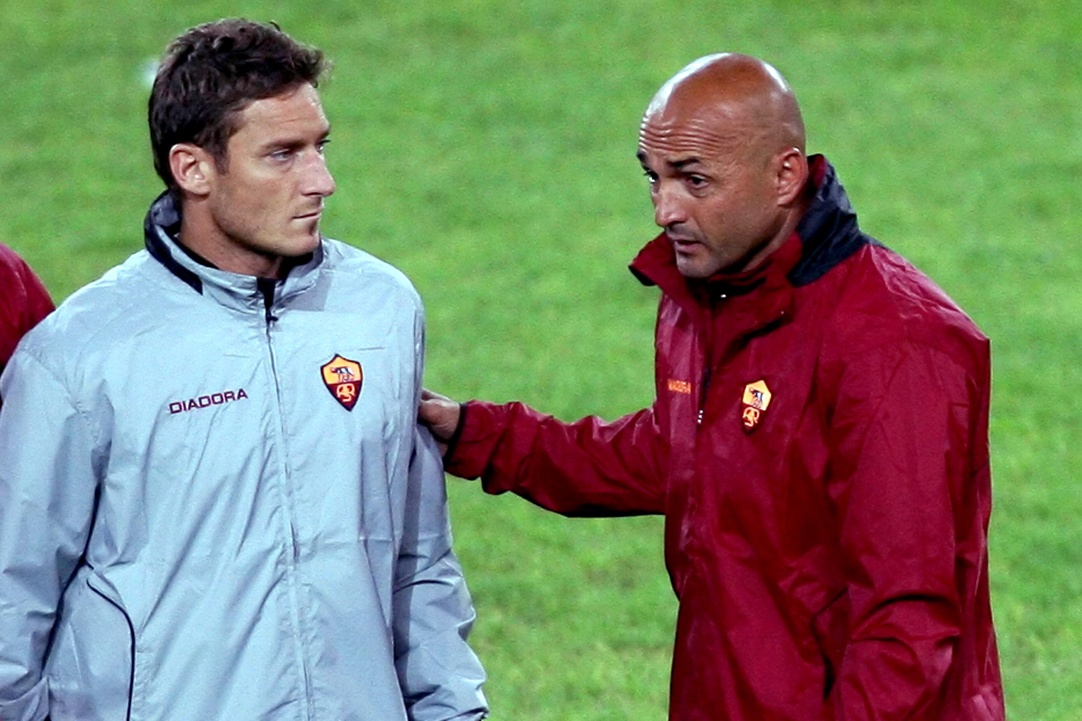 Francesco Totti Luciano Spalletti Roma 2006