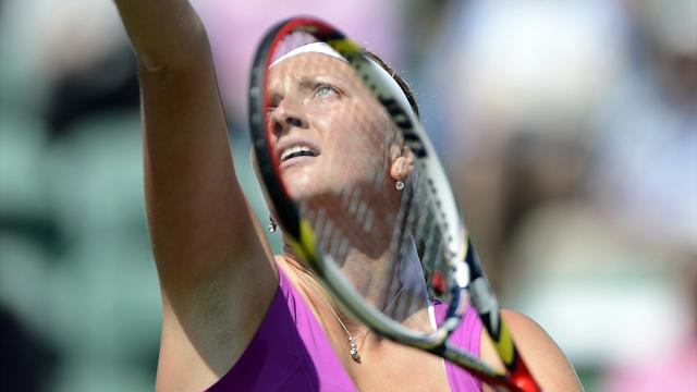Kvitova, Radwanska out but Brits win in Eastbourne