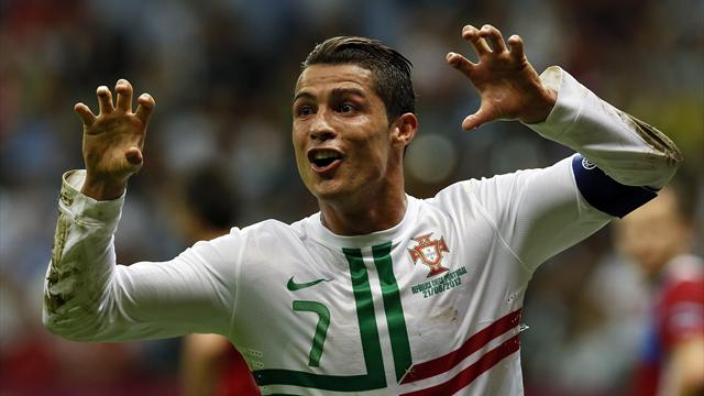 Ronaldo heads Portugal into last four
