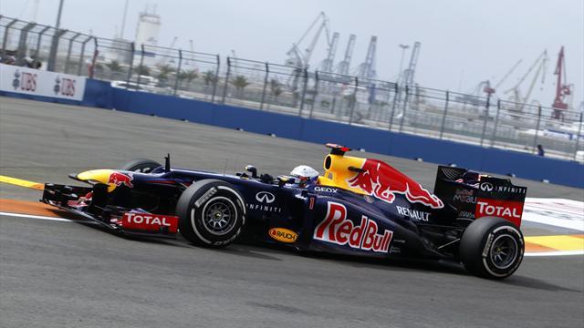 Vettel tops second session in Spain