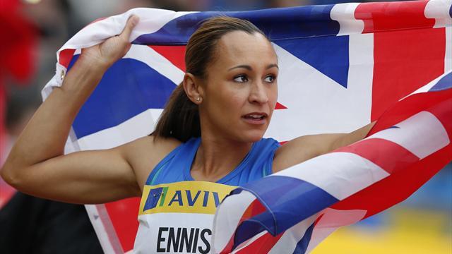 Ennis wins high jump and hurdles
