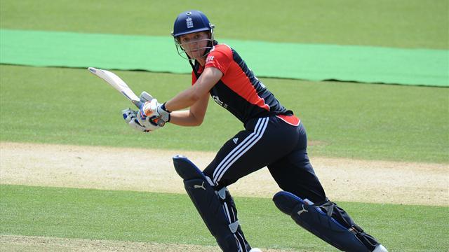 England women romp past India