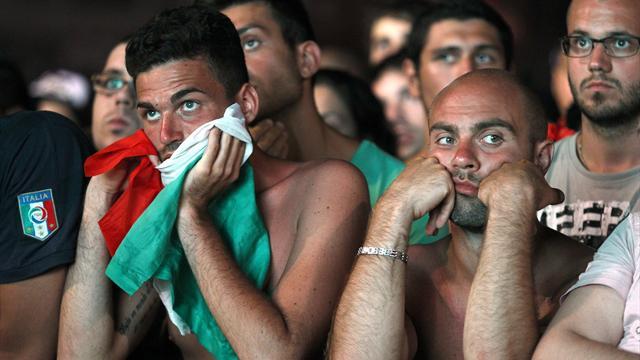 Italian fans left glum faced in Rome