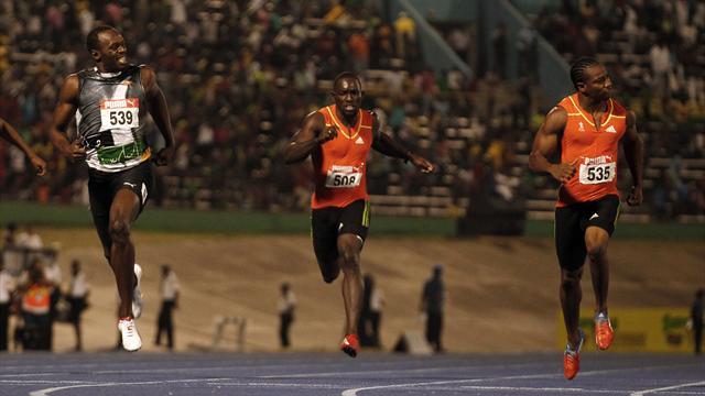 Blake beats Bolt again to secure sprint double